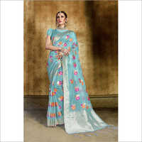 Ladies Partywear Silk Saree