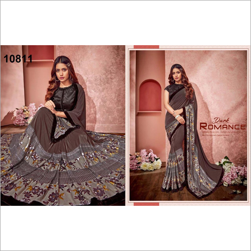 Ladies Grey Saree