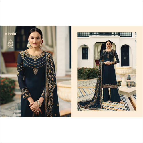Ladies Palazzo Embroidered Suit