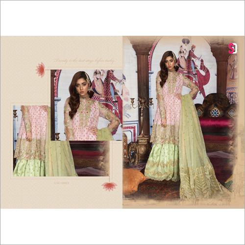 Ladies Sharara Embroidered Suit