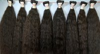 Black Virgin Raw Human Indian Hair  Extension