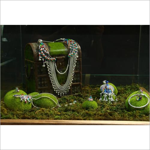 Designer Silver Kamarbandh Size: Customize