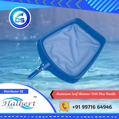 Aluminium Leaf Skimmer With Blue Handle