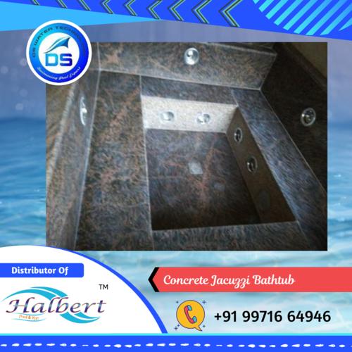 Concrete Jacuzzi Bathtub