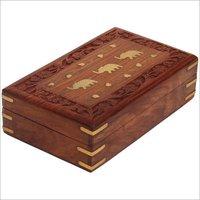 Antique Wooden Jewellery Box
