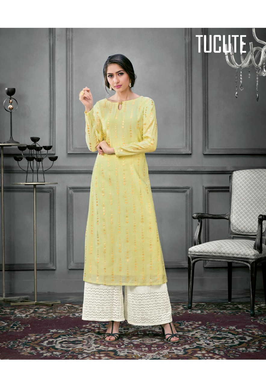 Silk kurtis with plazzo