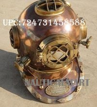 NM090859 NAUTICALMART Antique Full Copper & Brass Diving Helmet Divers Helmet Us Navy Mark V (B01LWBVOS3)