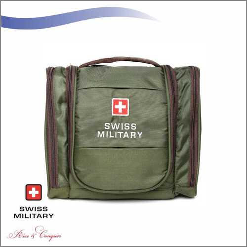 Swiss Military Multiple Pockets Including Wet Pocket + Quick Access Pocket With Carrying Handle Green (TB2)