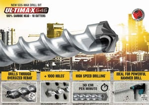 DIAGER ULTIMAX SDS MAX Drill Bit