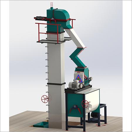1 Ton\hr-3 Ton\hr Standard Feed mill Plant