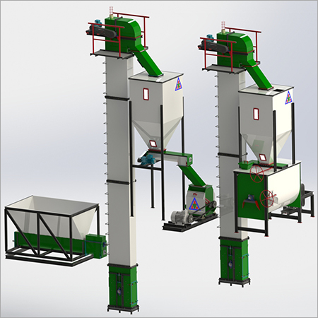 5 Ton\hr-8 Ton\hr Standard Feed mill Plant