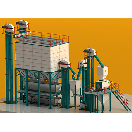 25 Tons\hr-30Tons\hr Standard Feed mill Plant