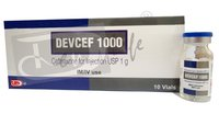 DEVCEF 1000 (Ceftriaxone for Injection USP 1000 mg)