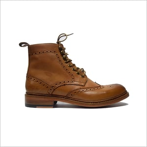 Biker Boot On a Round Toe Boot