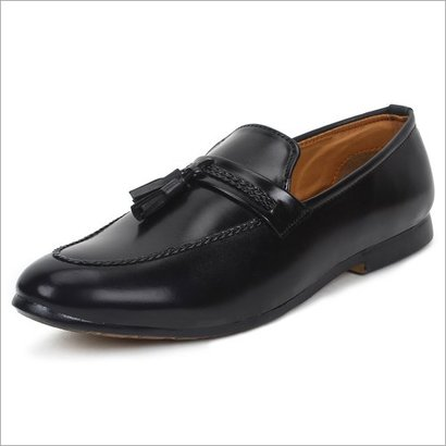 Any Season Mens Leather Black Loafer