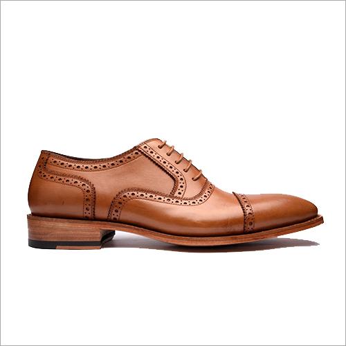 Brown Cap Toe Oxford Shoe