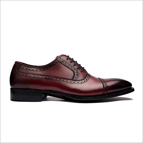Cherry Cap Toe Balmoral Oxford Shoes