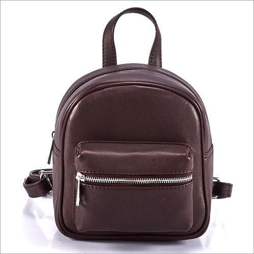 Ladies Brown Small Backpack
