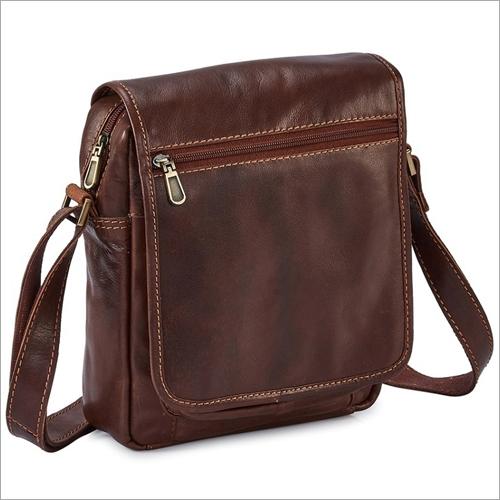 Mens Leather M Brown Bag