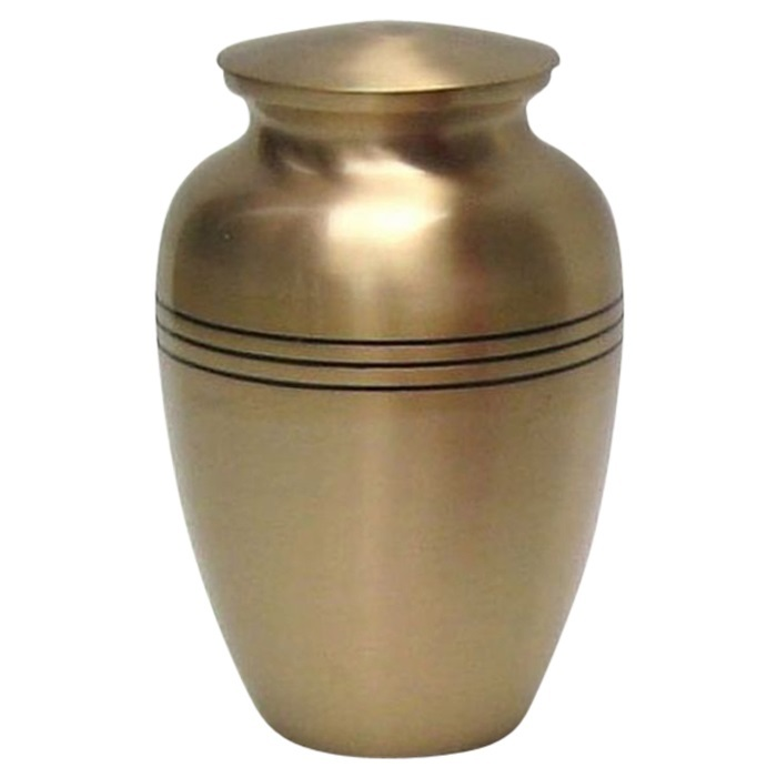 Plain Golden Brass Urns