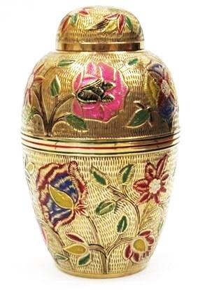 Designer Brass Cremation Urn