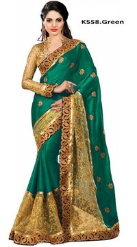 Embroidery Lace Wrok Saree