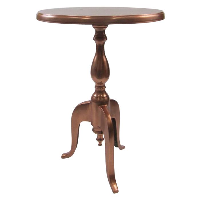 Outdoor Round Cast Aluminum Copper Table