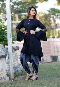 Stylish Kurti with Dhoti