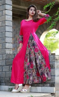 Ladies Partywear Cotton Kurti