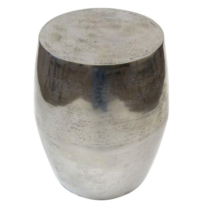 Weathered Aluminum Stool