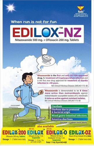 Nitazoxanide 500 mg & Ofloxacin 200 mg