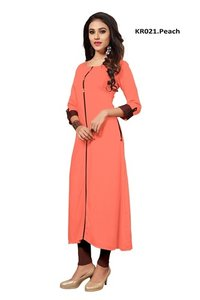 Peach Color kurti