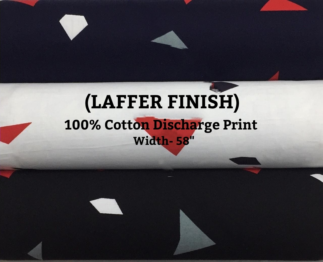 Laffer Finish 100% cotton discharge print