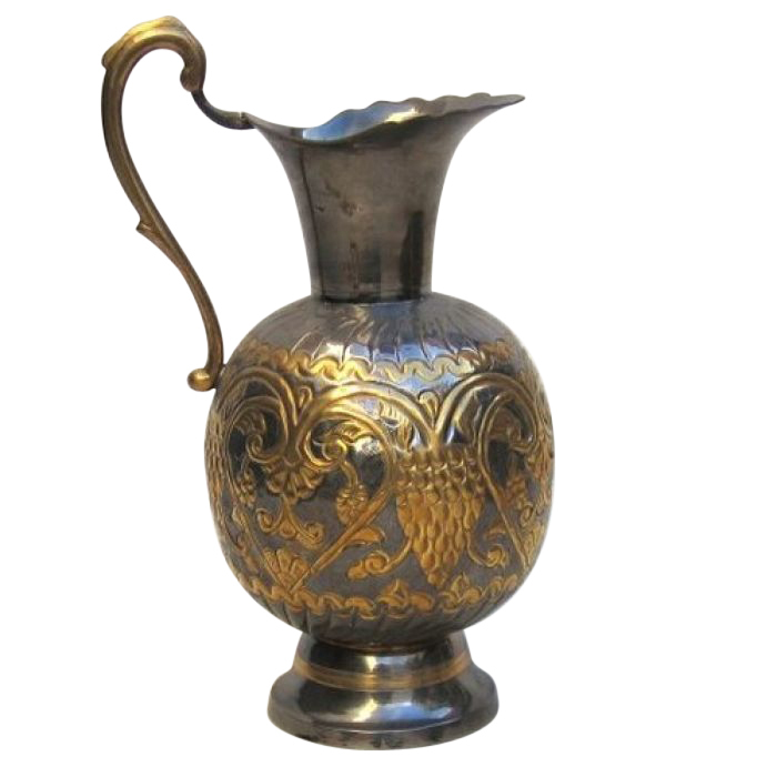 Peacock Design Brass Jug
