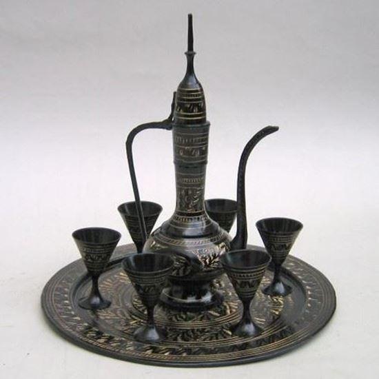 Black Etched Brass Wine Set