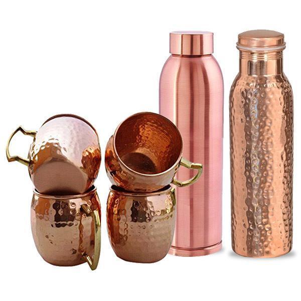 Copper Bottles & Cups
