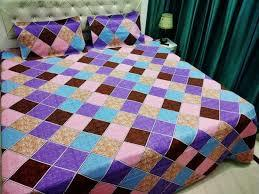coloured quilt