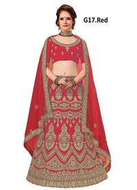 Embroidered Art-Silk Semi-Stitched Lehanga Choli