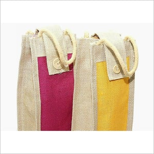 Wine Bottle Jute Bag