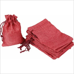 Red Jute Pouch