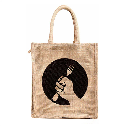 Printed Jute Lunch Bag