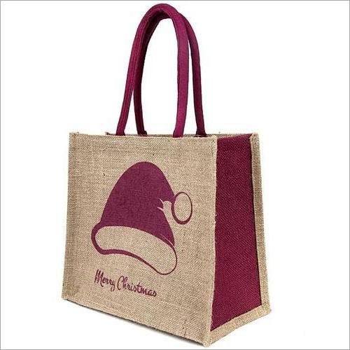 Merry Christmas Gift Jute Bags