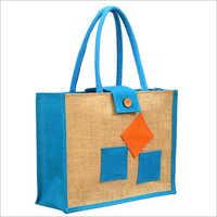 Printed Jute Tote Bag