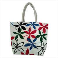 Ladies Fancy Printed Jute Bag