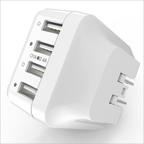 White Travel Charger Adapter