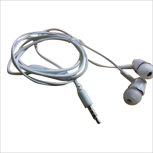 White Mobile Earphone