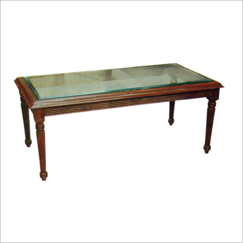Wooden and Glass Centre Table