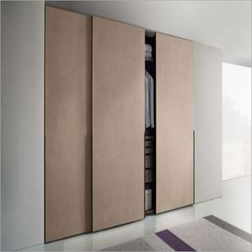 Wooden Double Sliding Wardrobe