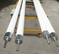 Fused Silica Ceramic Roller Used In Glass Tempering Furnace To Transport The glass