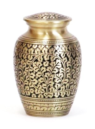 Fancy Brass Cremation Pet Urn